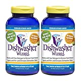 Dishwasher Wizard Dishwasher Detergent Additive, 2-Pack, 16 Ounce Each, Super Concentrated and Works...