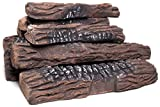 Natural Glo Large Gas Fireplace Logs | 10 Piece Set of Ceramic Wood Logs. Use in Indoor, Gas...