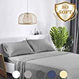 Abakan King Bed Sheets Set 4 Piece Microfiber 1800 Series Hotel Luxury Bedding Sheet Breathable,...