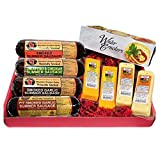 Mancave Ultimate Men's Cheese & Sausage Gift Basket - features Summer Sausages, 100% Wisconsin...
