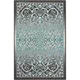Maples Rugs Pelham 7 x 10 Large Area Rugs [Made in USA] for Living, Bedroom, and Dining Room, Blue...