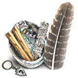 JL Local Smudge Kit - Sage, Palo Santo, Abalone Shell, Feather & More! Healing, Purifying,...