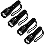 4 Pcs Military Grade 5 Mode XML T6 S3000 Lumens Tactical Led Waterproof Flashlight - Get 4 for Only...