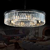 Meelighting Crystal Chandeliers Modern Contemporary Ceiling Lights Fixtures Pendant Lighting for...