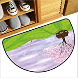 TableCovers&Home Low-Profile Mat, Nature Decorative Imdoor Rugs for Kids Room, Single House by...