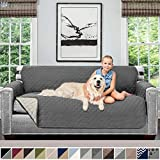 Sofa Shield Original Patent Pending Reversible Sofa Slipcover, Dogs, 2' Strap/Hook, Seat Width Up to...