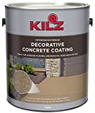 KILZ L378601 Interior/Exterior Slip-Resistant Decorative Concrete Paint, 1 Gallon, Tan