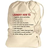 College Student Gift: Canvas Laundry Bag