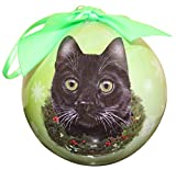 Black Cat Christmas Ornament Shatter Proof Ball Easy To Personalize A Perfect Gift For Black Cat...