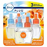 Febreze Plug in Air Freshener Scented Oil Refill, Hawaiian Aloha, 3 Count