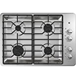 GE JGP3030SLSS 30 Inch Gas Cooktop with MAX System, Power Broil, Simmer, Continuous Grates, Sealed...
