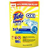 Tide Simply Clean & Fresh PODS Liquid Detergent Pacs, Refreshing Breeze Scent, 43 Count (Packaging...
