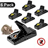 NERH Mouse Trap 6 Pack Mice Traps That Work Humane Power Rodent Killer and Mice/Rats Snap Kill...
