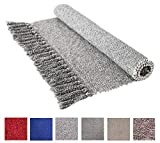 Cotton Reversible Laundry Room Rag Rug - Hand Woven Solid Color Chindi Area Rug Entryway for Kitchen...