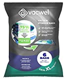 Vacwel Jumbo Vacuum Storage Bags for Clothes, Quilts, Pillows, Space Saver Size 43x30' Extra Strong...