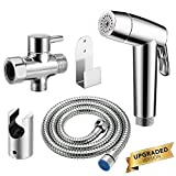 Abedoe Upgraded Handheld Bidet Sprayer for Toilet, Dual Modes Strong/Weak Water and Auto/Manual...