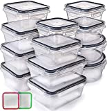 Fullstar (12 Pack) Food Storage Containers with Lids - Plastic Food Containers with Lids - Plastic...