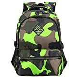 Macbag School Backpack Casual Daypack Travel Outdoor Camouflage Backpack for Boys and Girls...