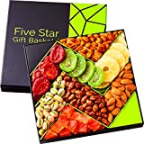 Five Star Gift Baskets, Holiday Fruit and Nuts Gift Basket - Gourmet Food Gifts - Mothers & Fathers...