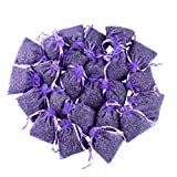 24 Small Purple Sachets Craft Bag with Dried French Lavender Flower Buds - Lavender Sachets for...