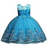 Formal Dresses for Girls 9T Pageant Ball Grown for Kids 10 Years Old Knee Length Flower Wedding...