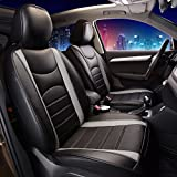 FH Group PU207GRAYBLACK102 Gray/Black Leatherette Car Seat Cushions Airbag Compatible