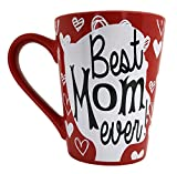 Mother's Day Coffee Mug Gifts - Best Mom Ever Ceramic Tea Cup - Birthday Presents for Mothers and...
