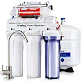 iSpring RCC7AK-UV Deluxe Under Sink 7-Stage Reverse Osmosis Drinking Water Filtration System with...