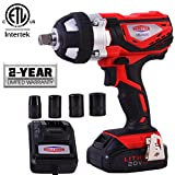 Dobetter Cordless Impact Wrench 1/2 Inch Compact Driver Battery Impact Wrench 1/2 Inch High Torque...