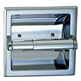 Designers Impressions Polished Chrome Recessed Toilet/Tissue Paper Holder All Metal Contruction -...