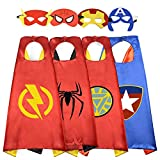 Easony Outdoor Toys for 3-10 Year Old Boys, Fun Cool Super Hero Capes Costumes for Kids Christmas...