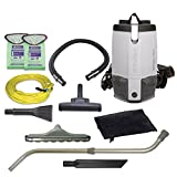 ProTeam Commercial Backpack Vacuum Cleaner, ProVac FS 6 Vacuum Backpack with HEPA Media Filtration...