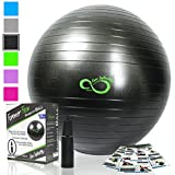 Live Infinitely Exercise Ball (55cm-95cm) Extra Thick Professional Grade Balance & Stability Ball-...