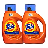 Tide Laundry Detergent Liquid, Original Scent, HE Turbo Clean, 50 oz, Pack of 2, 64 Loads Total...
