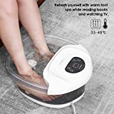 Foot Spa/Bath Soaker with Heat Bubbles Vibration and Massage Pedicure Motorized Massager...