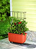 Rolling Self-Watering Tomato Planter and Tomato Tower Support - Polypropelene Planter and Powder...
