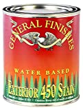 General Finishes Exterior 450 Water Based Wood Stain, 1 Quart, Coffee Bean