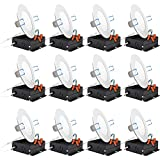 Sunco Lighting 12 Pack 4 Inch Slim LED Downlight with Junction Box,10W=60W, 650 LM, Dimmable, 5000K...