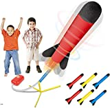 Play22 Toy Rocket Launcher - Jump Rocket Set Includes 6 Rockets - Play Rocket Soars Up to 100 Feet -...