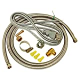 EZ-FLO 48337 Dishwasher braided stainless steel Installation Kit with 72-in connector & 6 ft....