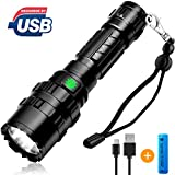 [2019 NEWEST]Brionac Rechargeable LED Flashlight, Waterproof Flashlight High Lumen Super Bright...