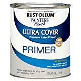 Rust-Oleum 1980502 Painters Touch Quart Latex, Flat Gray Primer