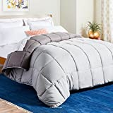 Linenspa All-Season Reversible Down Alternative Quilted Comforter - Hypoallergenic - Plush...