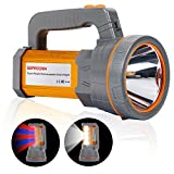 Super Bright Rechargeable LED Handheld Spotlight Flashlight High Lumens Powered CREE Searchlight...
