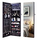 AOOU Jewelry Organizer Jewelry Cabinet,Wall Mounted Jewelry Organizer with Mirror, Full Length...