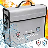 Aitere 2500°F Fireproof Bag (15'x12'x5' Inch), 2019 New-Version Fireproof Document & Money Bags -...