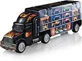 Play22 Toy Truck Transport Car Carrier - Toy Truck Includes 6 Toy Cars & Accessories - Toy Trucks...