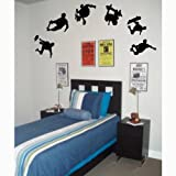 6 Skateboarders - Boy Wall Stickers Art Decals Decor