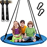 Trekassy 700lb Saucer Tree Swing for Kids Adults 40 Inch 900D Oxford Waterproof Frame Includes 2...