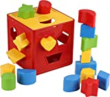 Play22 Baby Blocks Shape Sorter Toy - Childrens Blocks Includes 18 Shapes - Color Recognition Shape...